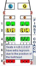 Seat map at SeatGuru.com