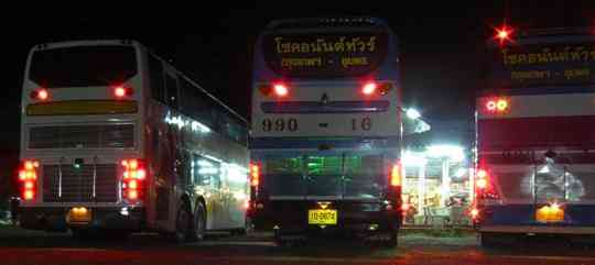 Fake and real VIP buses in thailand