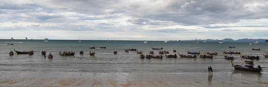 long tail boats in Ao Nang