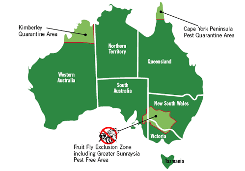 Australia quarantine map