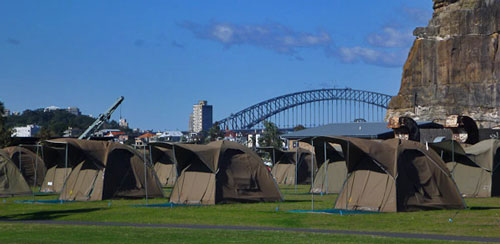 Camping in Sydney