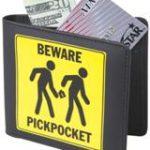 beware pickpockets