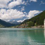Church of Curon-Venosta in lake Resia, Italy
