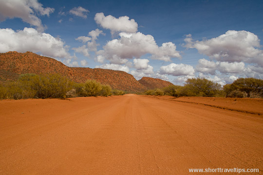 Road to the Mount Augustus in Western Australia