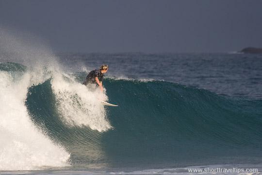 surfing near Sydney, Australia