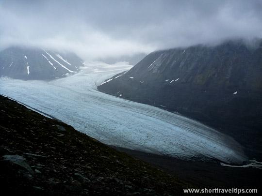 Mikkajekna glacier, Sarek National Park, Sweden