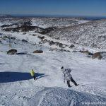Going down from Perisher peak in Australia