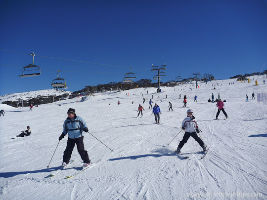 Perisher ski fields in Australia