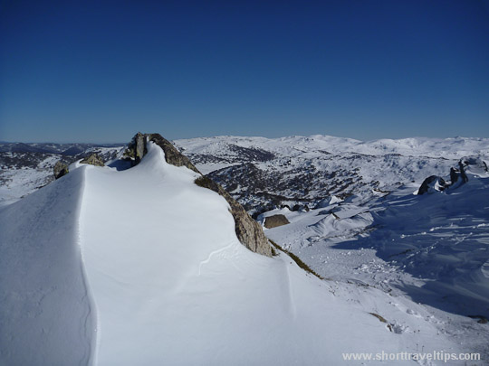 View from Perisher peak in Australia