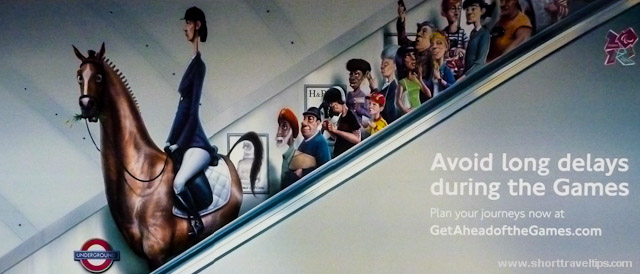 Ad at one of tube stations in London during Olympic games 2012