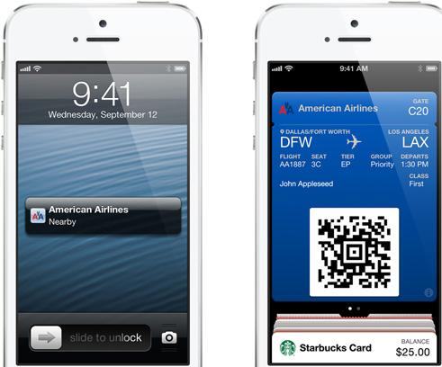 apple iphone 5, passbook,  ios 6