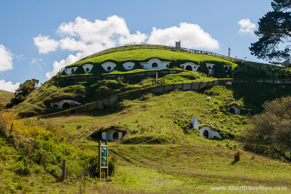 Smials (hobbit holes) in Hobbiton