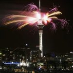 Fireworks in Auckland, New Zealand