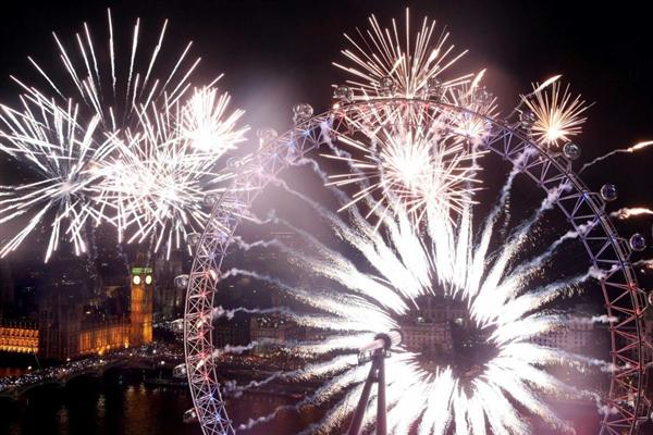 Fireworks in London, UK