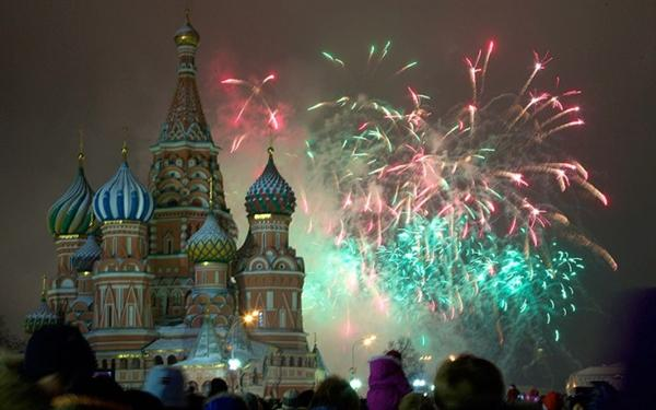 Fireworks in Moscow, Russia