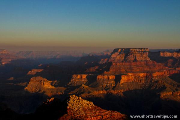 Grand Canyon from Desert view during sunrise, Arizona, USA
