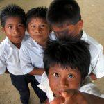 school children, panama