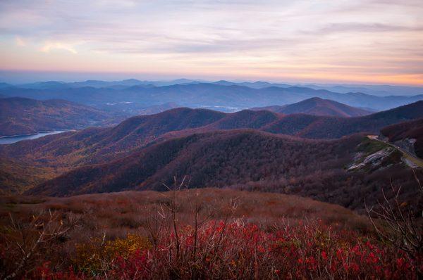 Blue Ridge Mountains during fall season