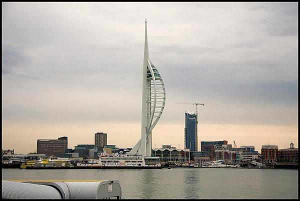 Spinnaker Tower in Portsmouth, England, UK