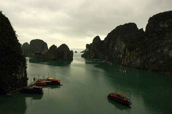 ships at Ha Long bay, Vietnam