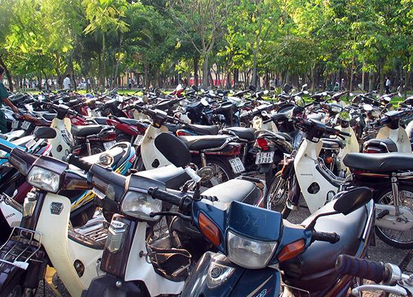 motorbikes in Ho Chi Minh (Saigon), Vietnam