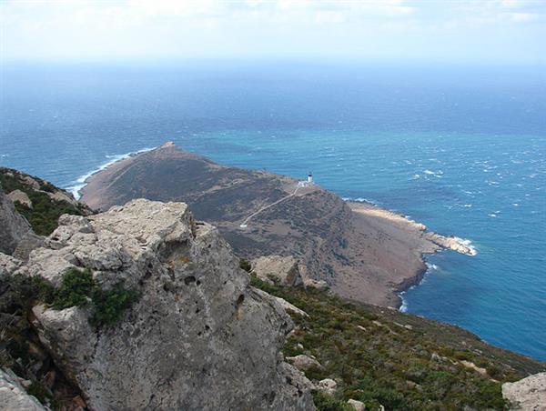 The Mediterranean Sea view from Cap Bon, Tunisia