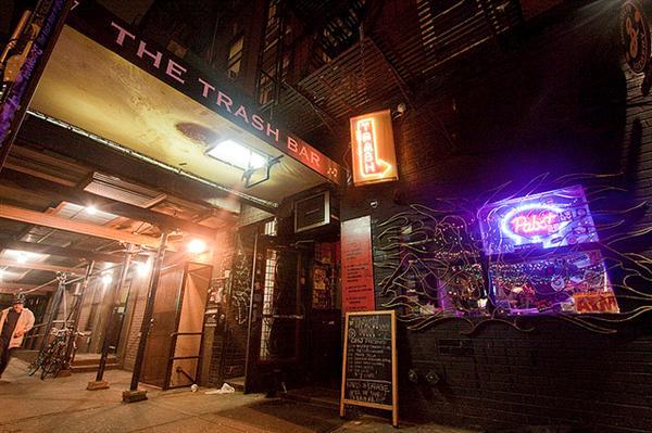 The Trash bar in Brooklyn, NYC