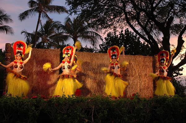 luau in  Maui, Lahaina, Hawaii