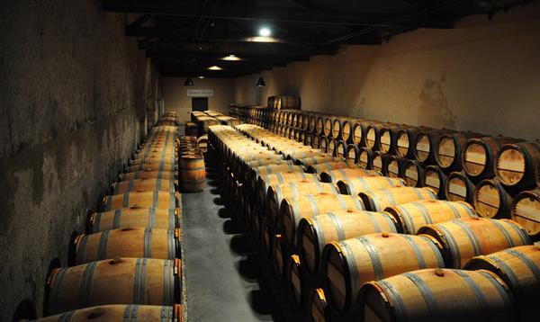 Wine cellar at Chateau Kirwan