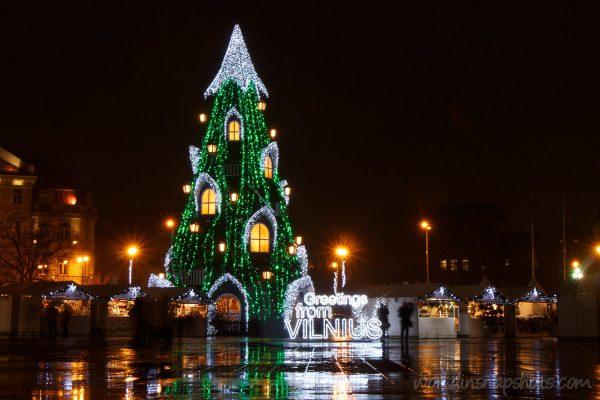 Christmas tree in Vilnius, Lithuania,2015