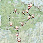 Map of three passes trek in Nepal