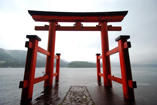 Jinja shrine gate, Hakone