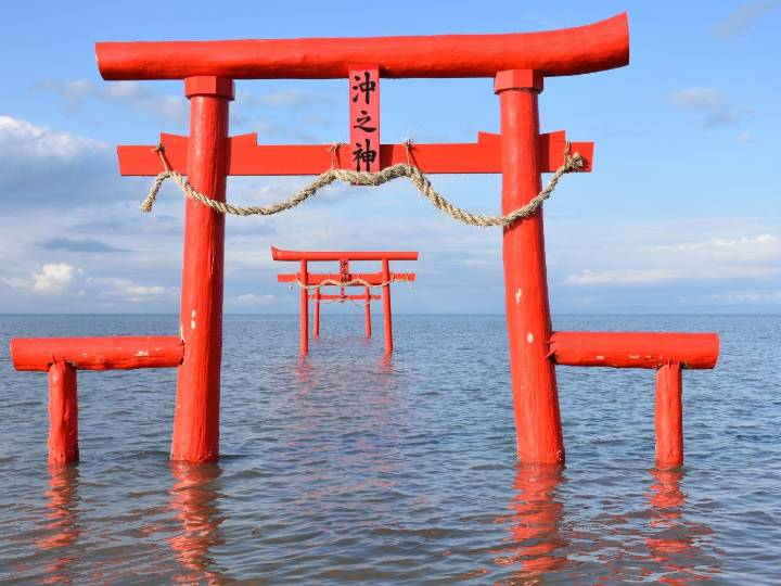 Floating Torii Gate of Oouo Shrine, Saga