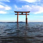 Shirahige Shrine torri (Lake Biwa)